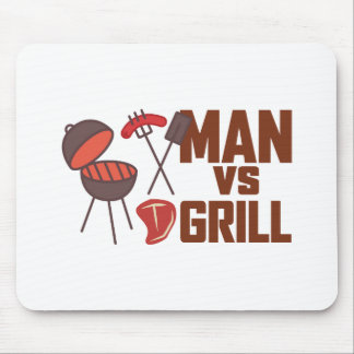 Man Vs Grill Mouse Pad