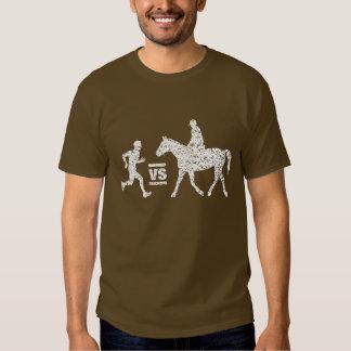 Man vs Horse Marathon Grungy Dark T-Shirt