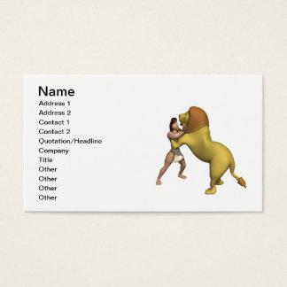 Man Vs Lion Business Card