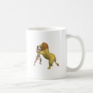 Man Vs Lion Classic White Coffee Mug