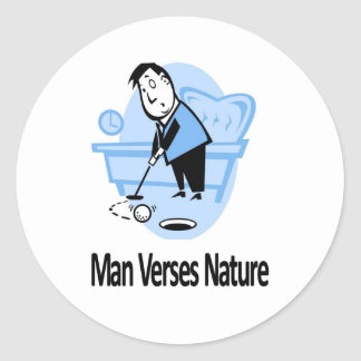 Man vs Nature Collection Classic Round Sticker