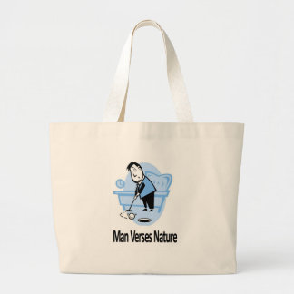 Man vs Nature Collection Large Tote Bag