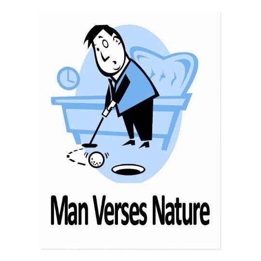 Man vs Nature Collection Postcard