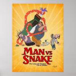 MAN VS SNAKE Don Bluth Poster from Kickstarter