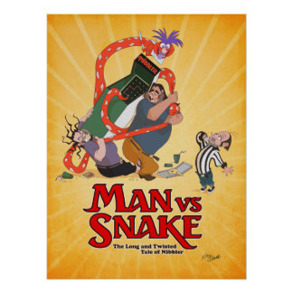 MAN VS SNAKE Don Bluth Poster from Kickstarter