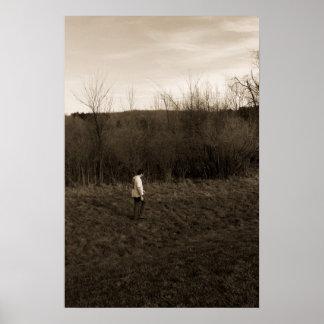 Man walking alone poster