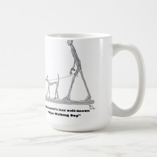 Man Walking Dog Coffee Mug