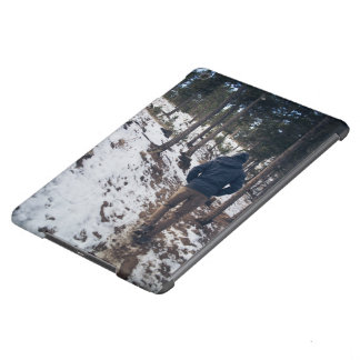 Man walking on a narrow passage cover for iPad air