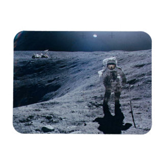 Man Walking on Moon Rectangle Magnets