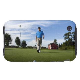 Man walking towards his golf ball. iPhone 3 tough cases