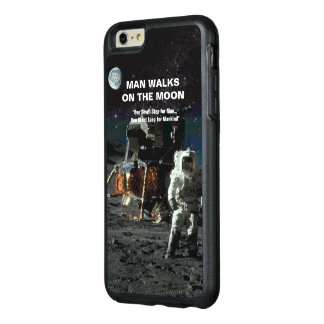 Man Walks on the Moon Astronaut and Earth OtterBox iPhone 6/6s Plus Case