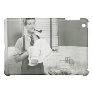 Man Washing Dishes Case For The iPad Mini