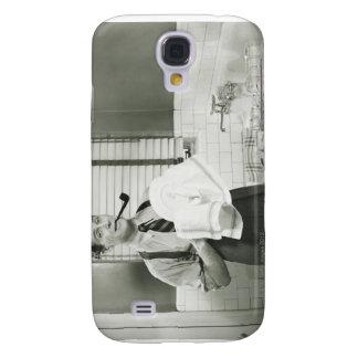 Man Washing Dishes Samsung S4 Case