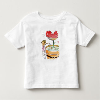 Man watering a potted plant tee shirt
