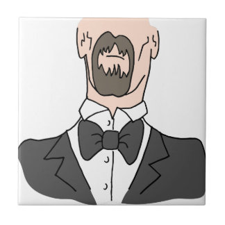 Man wearing a bow tie tile