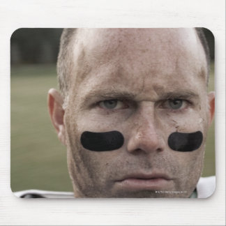 Man wearing American football kit, high section, Mouse Pad