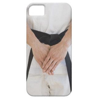 Man wearing karate black belt iPhone SE/5/5s case