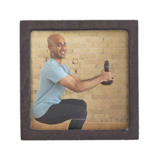 Man Weight Training Keepsake Box