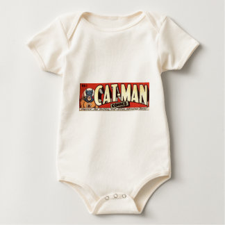 Man who Fancies Cats Banner Baby Bodysuit