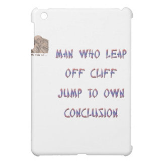 Man who leap off cliff jumps to own conclusion case for the iPad mini