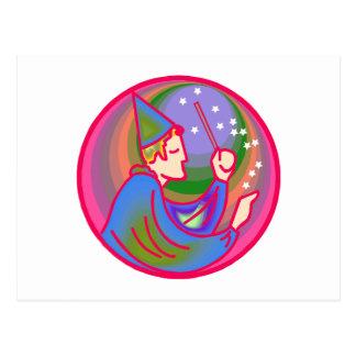 Man Witch Postcard