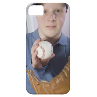 Man with a baseball glove and a baseball iPhone SE/5/5s case