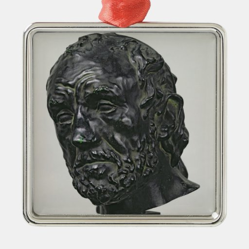 Man with a Broken Nose, 1865 Square Metal Christmas Ornament