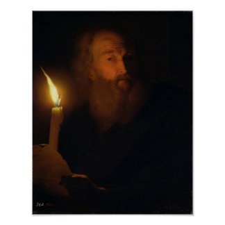 Man with a Candle Poster