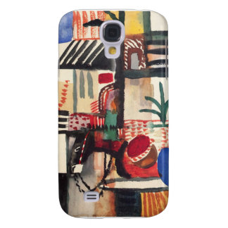 Man with a donkey by August Macke Samsung Galaxy S4 Cover