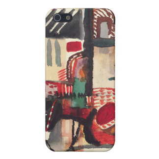 Man with a donkey by August Macke iPhone 5 Case