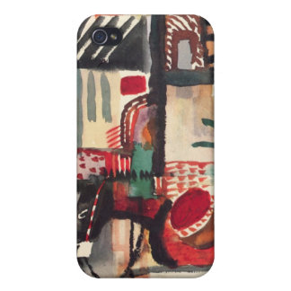 Man with a donkey by August Macke iPhone 4 Cases