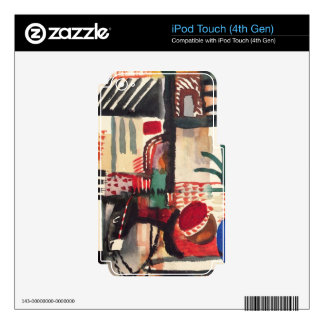 Man with a donkey by August Macke iPod Touch 4G Skin