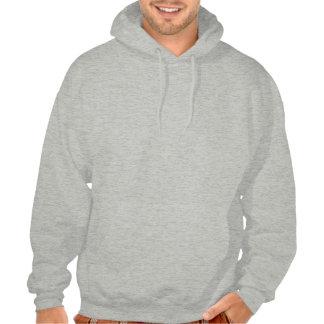 Man with a Glove Hooded Sweatshirts