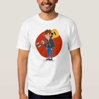 Man with a guitar tee shirt