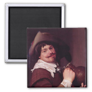 Man with a Jug 2 Inch Square Magnet