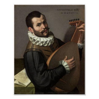 Man With a Lute Poster