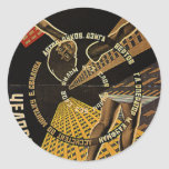 Man with a Movie Camera Poster Classic Round Sticker