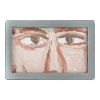 Man with a scar on his face (Neo-Expressionism) Belt Buckle