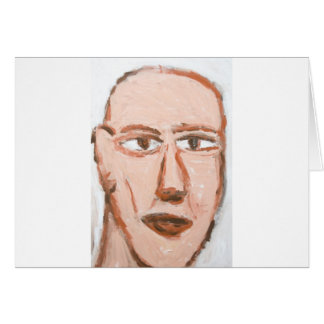 Man with a scar on his face (Neo-Expressionism) Card