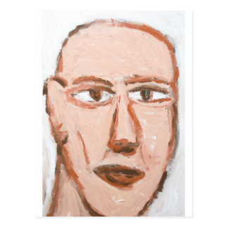 Man with a scar on his face (Neo-Expressionism) Postcard