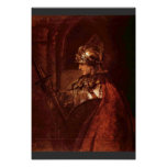Man With Arms (Alexander The Great) By Rembrandt Poster