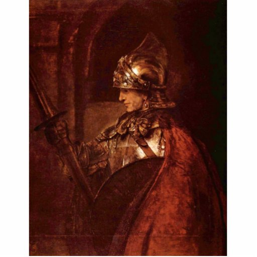 Man With Arms (Alexander The Great) By Rembrandt Standing Photo Sculpture
