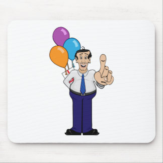 Man with Balloons Mouse Pads