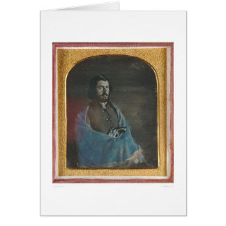 Man with blue cloak and revolver (40455) card