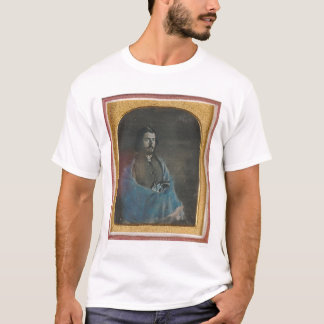Man with blue cloak and revolver (40455) T-Shirt