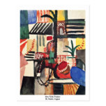 Man With Donkey By Macke August Postcards
