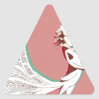 Man with feathers triangle sticker