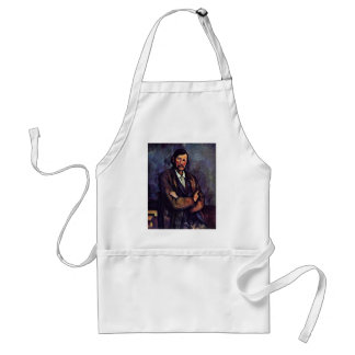 Man With Folded Arms By Paul Cézanne (Best Quality Adult Apron