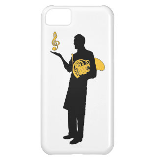 Man With French Horn T-shirt Cover For iPhone 5C