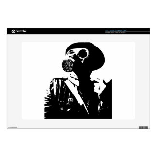 Man with Gas Mask Decals For Laptops